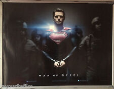 Cinema Poster: MAN OF STEEL 2013 (Handcuff Quad) Henry Cavill Russell Crowe
