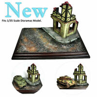 1*Military Diorama Scenery Ruins Corner House 1/35 Sand Table Model Building Kit
