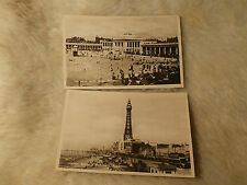 @ 2 X BLACKPOOL POSTCARDS - LANCASHIRE - BLACKPOOL TOWER - SOUTH SHORE BATHS (B)