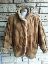 Auth. FENDI Genuine Fur Brown Jacket sz S/M/L Dolman Sleeve Beautiful