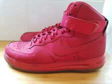 Nike Lunar Force 1 Hi 14 High Trainer shoes Size 9.5 ref24P5 mens university red
