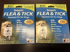 SERGEANT'S FLEA & TICK SQUEEZE-ON FOR DOGS 2 PACKS PER ORDER 6 MONTH SUPPLY NEW