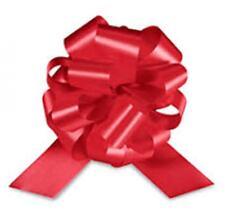 """25 5"""" RED PULL BOWS~ RED SATIN RIBBON~ 20 LOOP"""