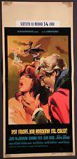 Locandina PER FAVORE NON MORDERMI SUL COLLO 1967 ROMAN POLANSKY MGM dis.NANO