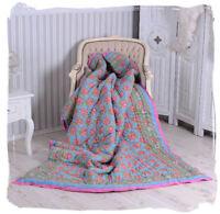 Baumwolldecke Shabby Decke Kuscheldecke Plaid Wohndecke Sofadecke Überwurf