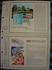 2 FDC - CEF : centre tel. Tuileries + union postale universelle