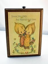 Vintage Betsey Clark Thank You Lord, For Friends Held Dear Hallmark Wall Plaque