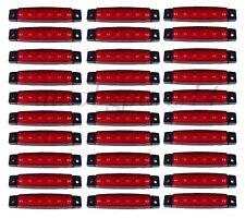 30 x RED 6 LED 12V Side Marker Light HGV Bus Van Trailer Indicator Motorhome New