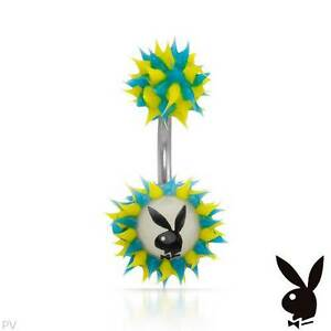PLAYBOY New Body Ring With White Plastic ,2 tone Rubber and Stainless steel