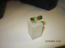 Double Band color changed MOOD RING - Diammond pattern