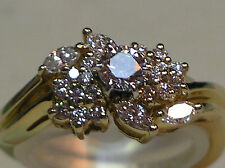 Two ring 14K yellow gold diamond wedding set