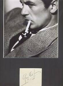 GARY COOPER HIGH NOON VINTAGE AUTHENTIC SIGNED AUTOGRAPH DISPLAY UACC
