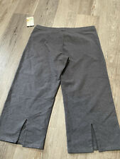$297 Stonewear Womens Gray Logo Active Relaxed Cropped Performance Pants Size XL