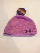 Womens Under Armour ColdGear Infrared Hat Cap Beanie Purple One Size NWT