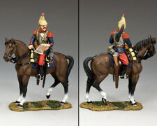 KING & COUNTRY FIRST WAR FW221 WW1 FRENCH CUIRASSIER MOUNTED STUDYING MAP MIB