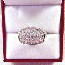 1.25ct White Cubic Zirconia 925 Sterling Silver Cluster Ring US (8) AU (Q)