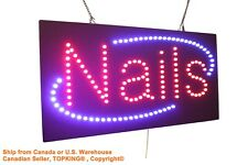 Nails Sign,  Pedicures Manicures Neon  LED Open Sign Store Sign Business Sign
