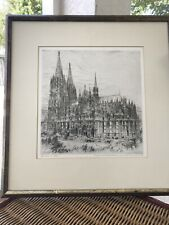Paul Geissler 1922 Etching Signed And Titled