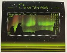 TAAF French Antarctic 2020 Aurore Unique Unusual Glitter Varnish Miniature sheet