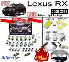 18 Bulbs 6000K White LED Interior Light Kit For 2009-2015 Lexus RX 270 350 450
