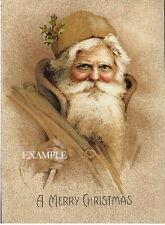 Santa Claus*OLD WORLD VICTORIAN STYLE*FABRIC BLOCKS #45