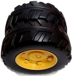 John Deere Ride On Farm / Power Pull Tractor Replacement Front Right Wheel / ...