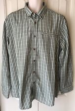 Outdoor Life Men's Large Action/Dress Long Sleeve Shirt Green