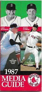 1987 BOSTON RED SOX MLB MEDIA GUIDE VINTAGE FREE SHIPPING