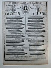Tabakawaren, Zigarren - Ganzseitige Anzeige - Schöttler Leipzig - Holzstich 1882