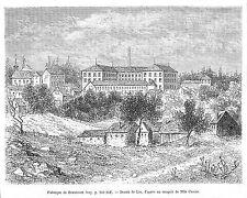 BEAUCOURT FABRIQUE DESSIN DE LIX GRAVURE ENGRAVING 1888