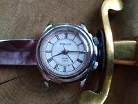 Men's wrist watch poljot (eng. flying) with alarm. beautiful case, nice dial