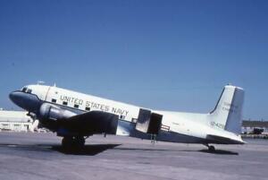 35mm Aircraft Slide USN 12428 Douglas C-117D Skytrooper Corpus Christi