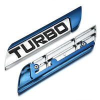 1Pc TURBO Emblem Trunk Fender Badge Sticker Car Metal 3D Logo Sticker
