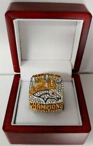 Von Miller - 2015 Denver Broncos Super Bowl Custom Ring W Wooden Box