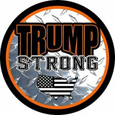 TRUMP STRONG USA AMERICAN FLAG MILITARY DECAL WINDOW BUMPER