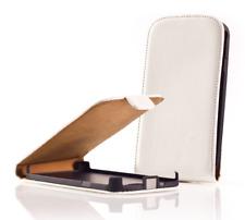 Housse Etui Coque Luxe (CUIR SLIM BLANC) ~ Samsung GT i9190 Galaxy S4 Mini