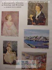 RARE Esquire 1943 ART CHARLES DANA GIBSON Girl article paintings
