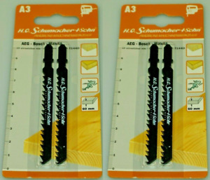 German High Quality Jigsaw Blades Compatible with Bosch T144D 2 Packs of 2