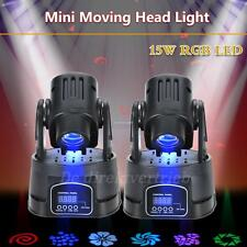 2x15W RGB LED Testa Mobile Luce 13CH DJ Club Stage Light Party con DMX Cavo