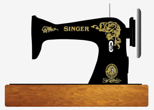 Singer Model 15 Acanthus Leaves  Style Sewing Machine Restoration Decals