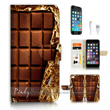 ( For iPhone 8 ) Wallet Case Cover P3345 Chocolate