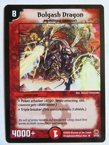 DUEL MASTERS Bolgash Dragon 37/55 DM-05 Survivors Of The Megapocalypse Card