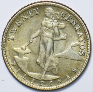 Philippines 1944 20 Centavos Eagle animal 294892 combine