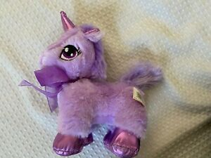 "Dan Dee Collectors Choice 7"" Purple Unicorn with Bow Plush Toy Valentine's Day"