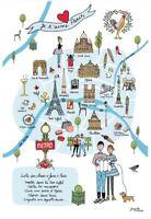 Torchons & Bouchons EIFFEL TOWER Macaron PARIS French Kitchen Towel NOTRE DAME