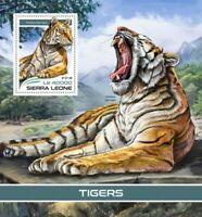 Sierra Leone - 2018 Tigers on Stamps - Stamp Souvenir Sheet SRL18306b