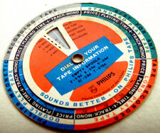 PHILIPS Turnable MOVEABLE CALCULATOR Circular TAPE RECORDER Dial TRACK TIME DIAL