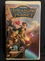 WALT DISNEY TREASURE PLANET VHS CLAMSHELL 2002 THX AUDIO with inserts!