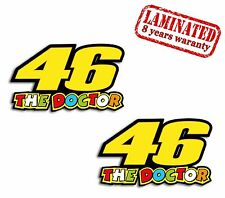 2 VINYL STICKERS 46 VALENTINO ROSSI THE DOCTOR MOTO GP MOTORCYCLE RACE CAR B 8
