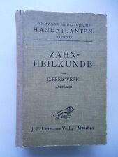 Zahnheilkunde Lehmanns medizinische Handatlanten Bd. XXX 1919 Zähne